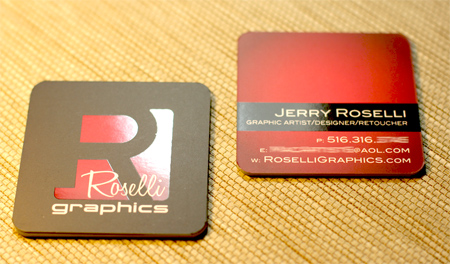 Roselli Graphics Square Business Cards