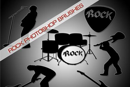 Rock Photoshop Brushes