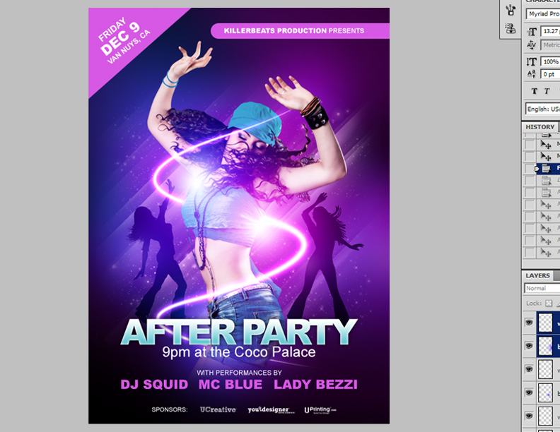How To Make a Smokin Nightclub Flyer – Night Club Flyer