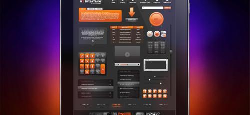 orange-user-interface