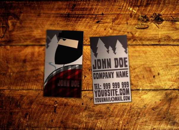 Wood Industry Business Card Template