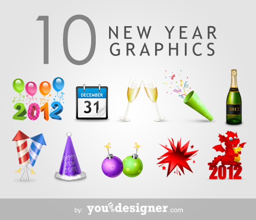 10 free new year graphics