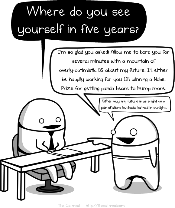 Where Do You See Yourself In Five Years - The Oatmeal