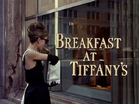 breakfast at tiffany's intertitles typography