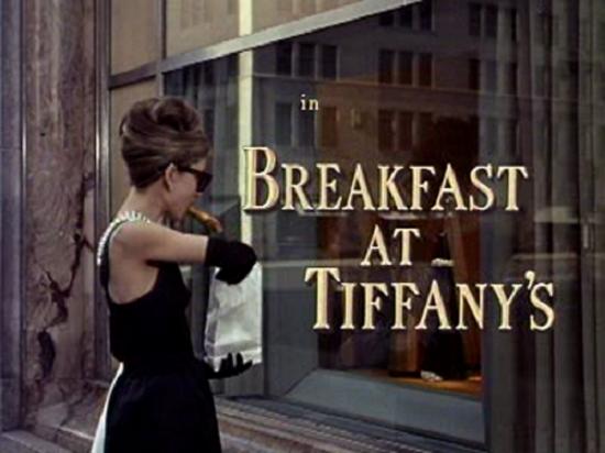 breakfast at tiffany's intertitles typography