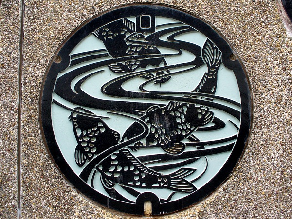 Japanese Manhole Design, documented by MRSY via YouTheDesigner.com