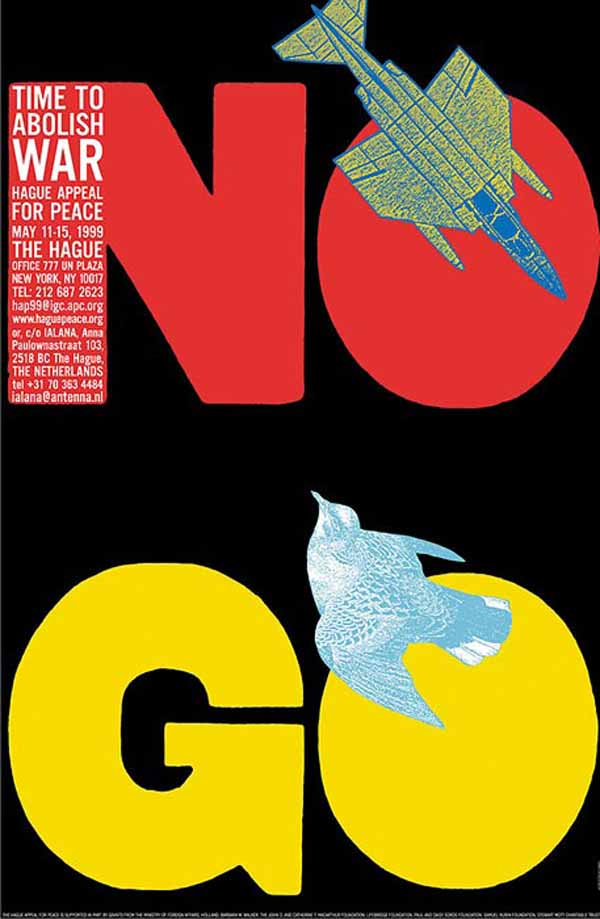 Abolish War Poster by Seymour Chwast via YouTheDesigner.com