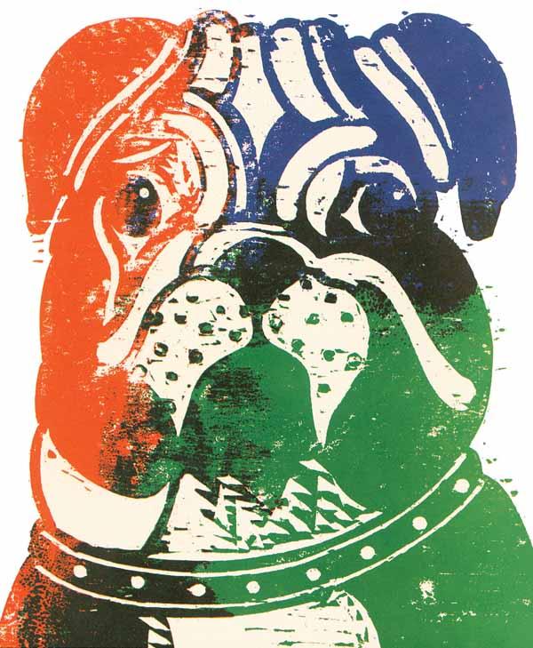 Bulldog by Seymour Chwast via YouTheDesigner.com