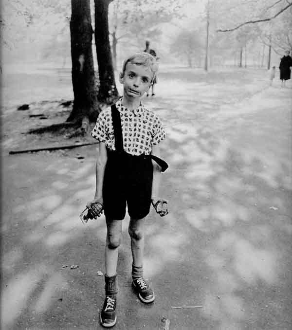 Diane Arbus - Child with Toy Hand Grenade in Central Park, New York City, 1962 via YouTheDesigner.com