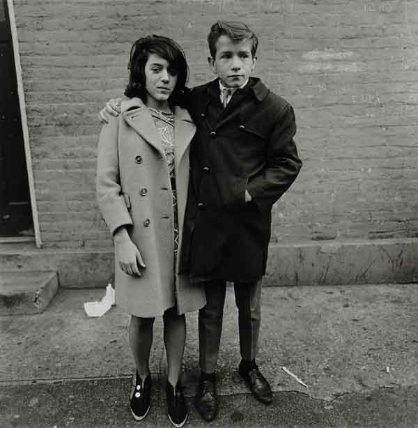 Diane Arbus - Teenage Couple on Hudson street New York 1963 via YouTheDesigner.com