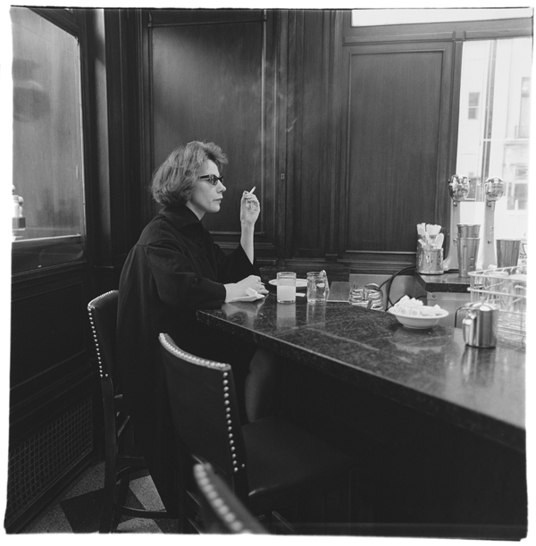 Diane Arbus - Woman at a Counter, Smoking, NYC via YouTheDesigner.com