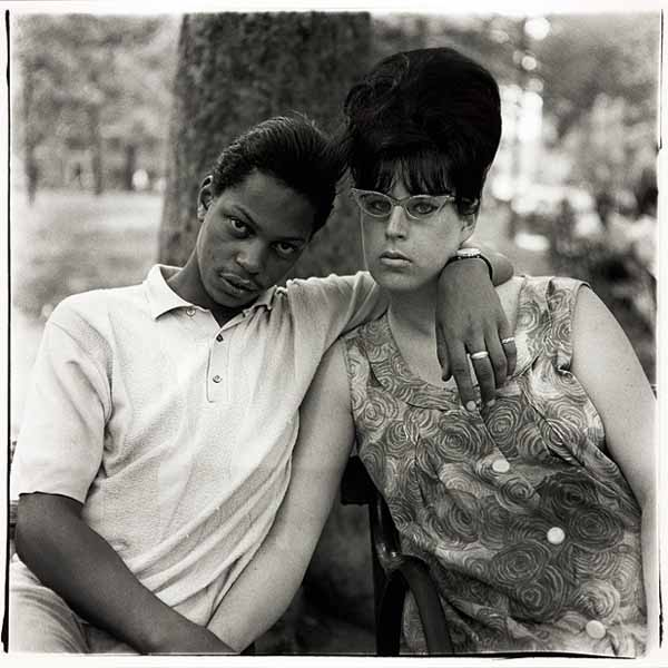 Diane Arbus - Young Man and His Pregnant Wife in Washington Square Park via YouTheDesigner.com