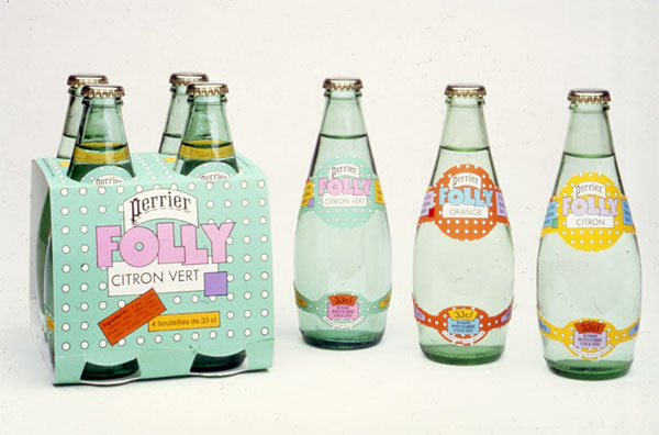 Perrier Packaging by Seymour Chwast via YouTheDesigner.com