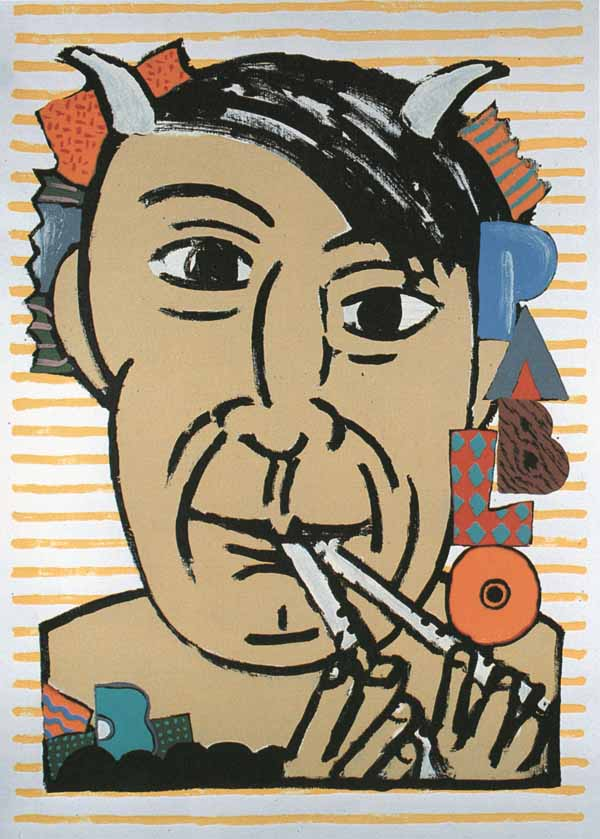 Picasso Poster by Seymour Chwast via YouTheDesigner.com