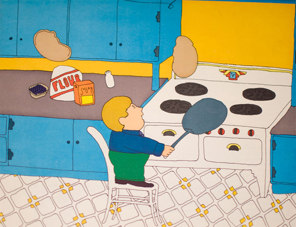 The Pancake King Book Illustration by Seymour Chwast via YouTheDesigner.com