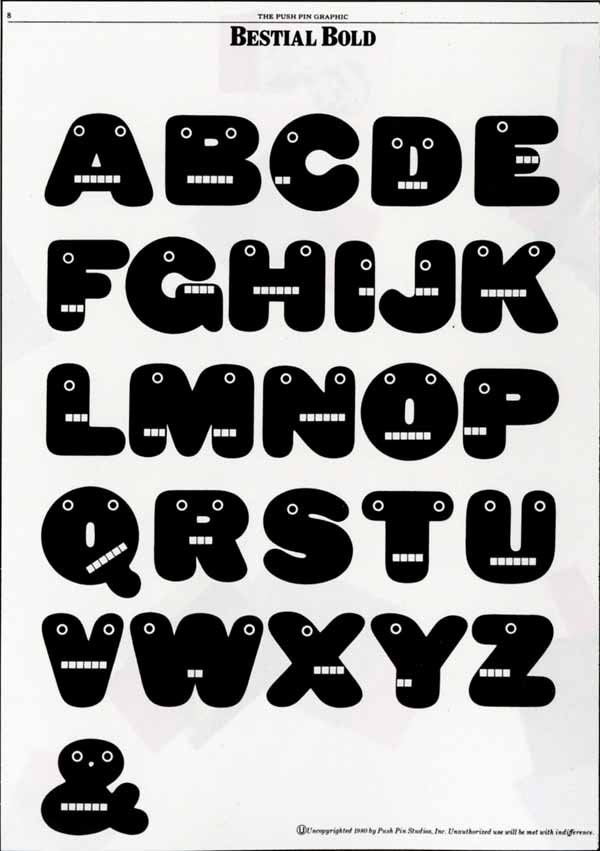 Type Design by Seymour Chwast via YouTheDesigner.com