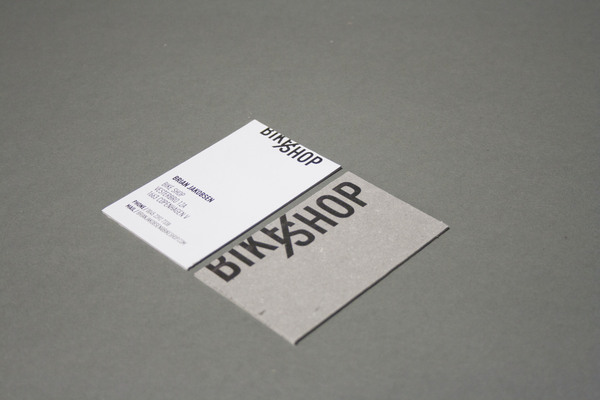 BIKE SHOP Branding Strategy - Business Cards by Line Otto via YouTheDesigner.com