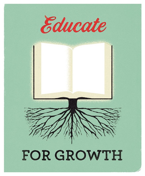 Graphic Design Educate for Growth by Heads of State via YouTheDesigner.com