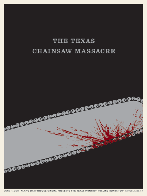 Poster Design Chainsaw Massacre by Jason Munn via YouTheDesigner.com