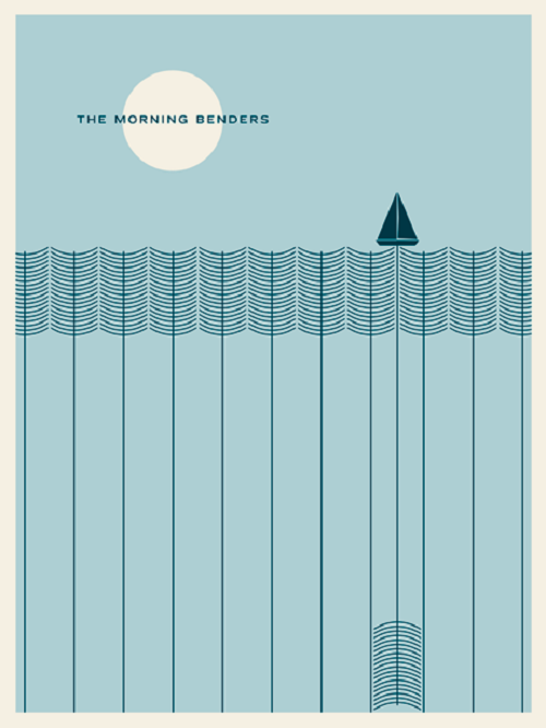 Poster Design Morning Benders by Jason Munn via YouTheDesigner.com
