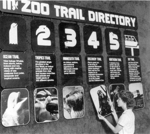 Minnesota Zoo Type and Wayfinding 05 by Lance Wyman via YouTheDesigner.com