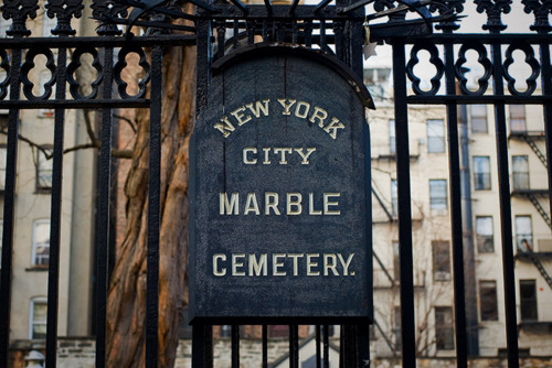 NYC Type NYC Marble Cemetery Photograph by Luke Connolly via YouTheDesigner.com