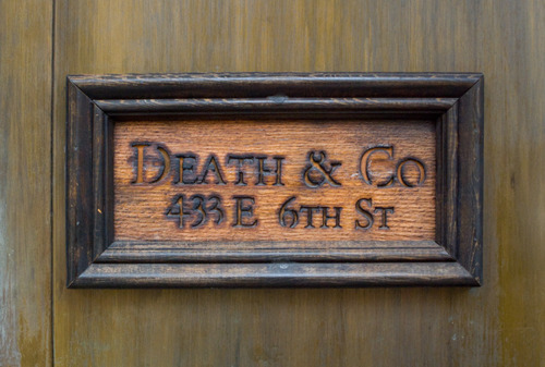 NYC Type Death and Co. Photograph by Luke Connolly via YouTheDesigner.com