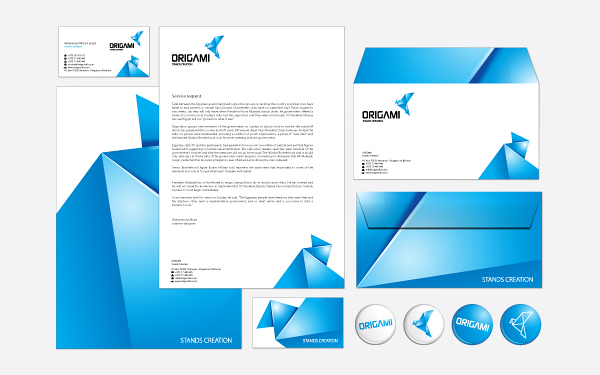 Origami Branding Strategy 03 by Mohhamed Mirza via YouTheDesigner.com