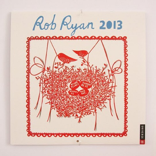 Calendar Design 2013 by Rob Ryan via YouTheDesigner.com