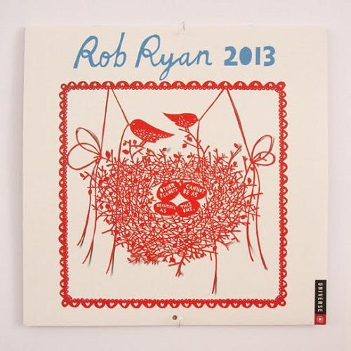 Calendar Design 2013 by Rob Ryan via YouTheDesigner.com