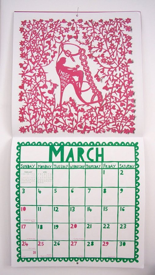 Calendar Design March by Rob Ryan via YouTheDesigner.com