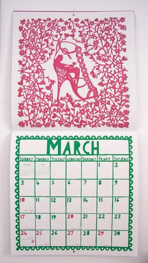 Calendar Design March by Rob Ryan via YouTheDesigner.com