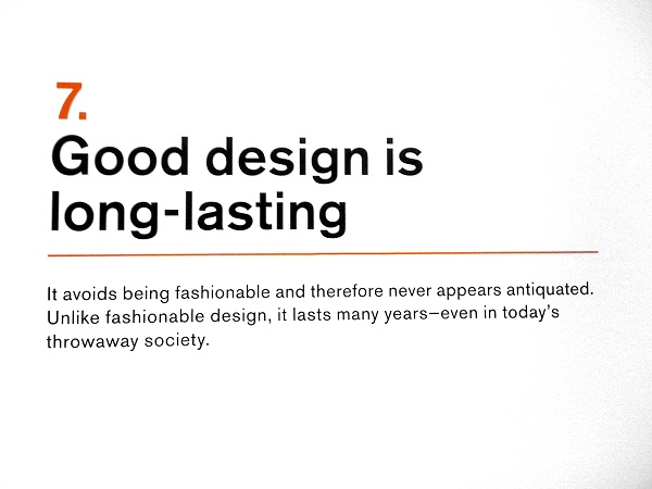 Ten Principles of Good Design by Dieter Rams from Flickr via YouTheDesigner.com