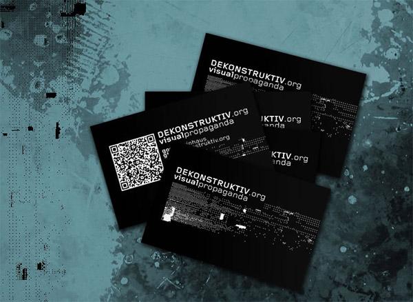 Dekonstruktiv business card
