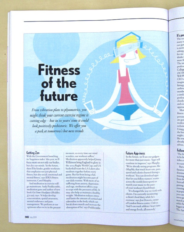 Healthy Magazine Graphic Design 01 by Dale Edwin Murray via YouTheDesigner.com