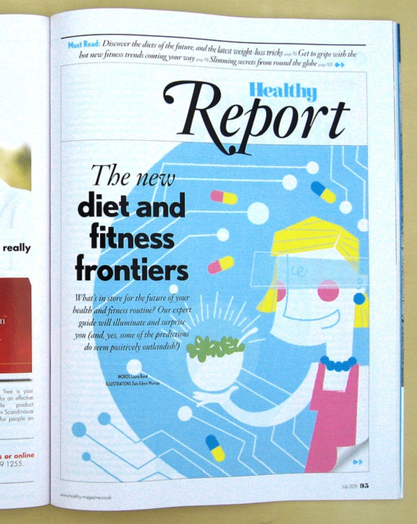 Healthy Magazine Graphic Design 02 by Dale Edwin Murray via YouTheDesigner.com