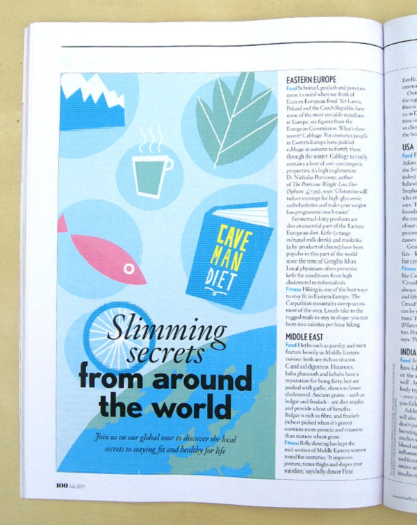 Healthy Magazine Graphic Design 03 by Dale Edwin Murray via YouTheDesigner.com