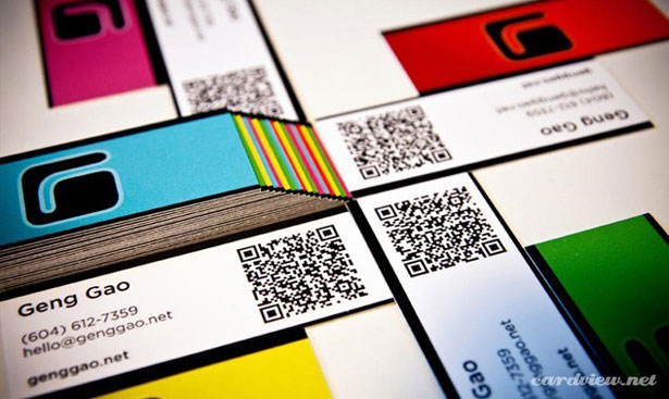 Geng Gao's business card via YouTheDesigner