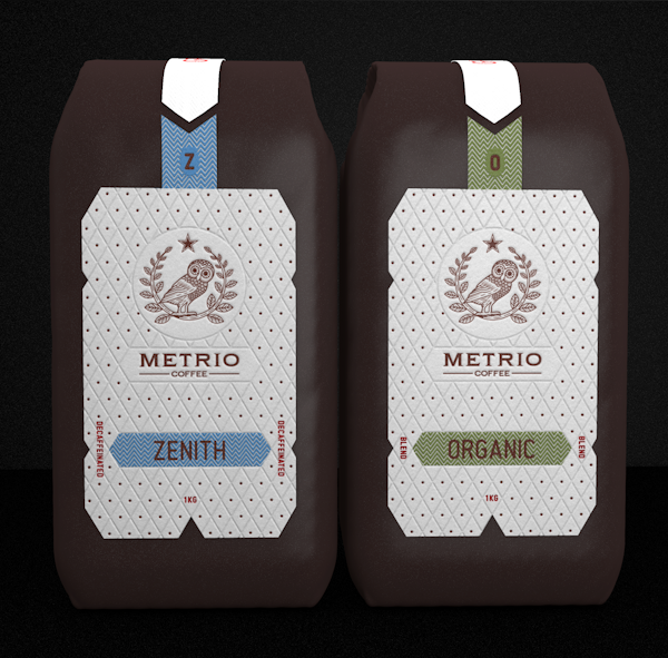 Metrio Coffee Packaging by Robinsson Cravents via YouTheDesigner.com