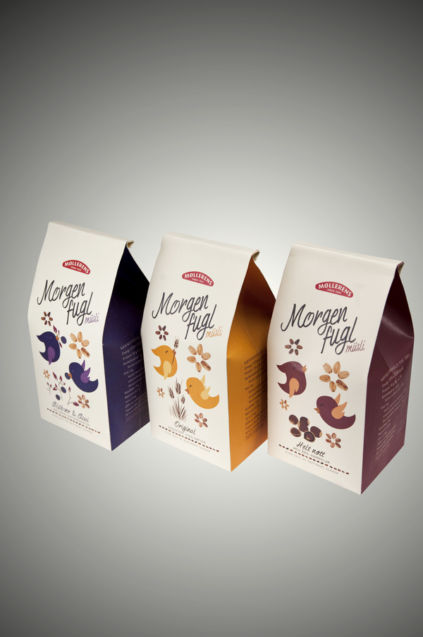 Müsli Packaging Packaging Design by Anna Johanson, Hung Pham and Ole Martin Volle via YouTheDesigner.com