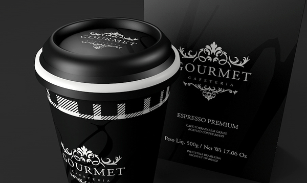 Gourmet Cafeteria Packaging Design by Guilherme Karklin