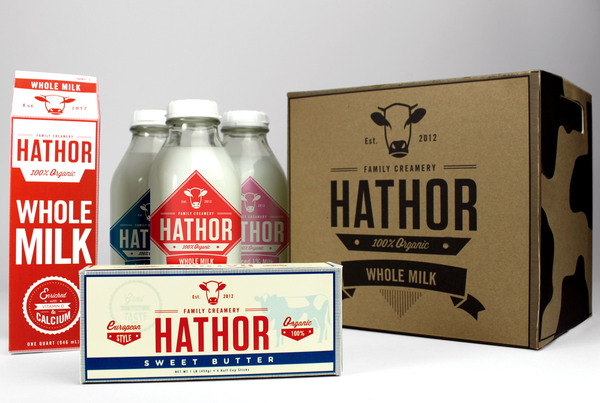 Hathor Creamery Packaging Design pt. 2 by Micheal Vilayvong via YouTheDesigner.com