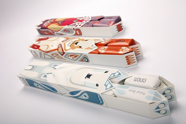 Einem Chocolate Packaging pt. 2 by Julia Agisheva via YouTheDesigner.com
