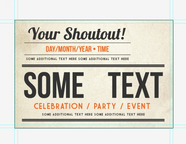 UCreative.com - How to Make a Retro Style Event Postcard from ...