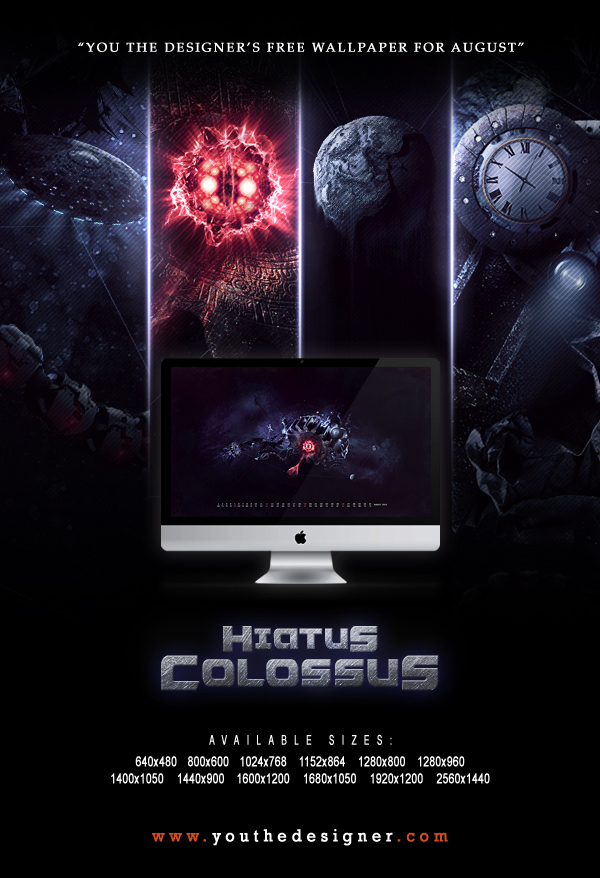 Hiatus Colossus - Free Wallpaper Calendar for August 2012 by You The Designer