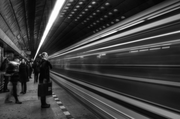 """""""Subway Black and White"""" 