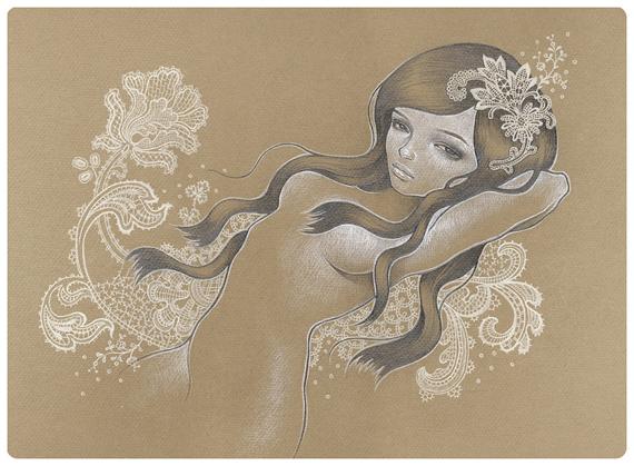 Sketchbook Illustration by Audrey Kawasaki via YouTheDesigner.com
