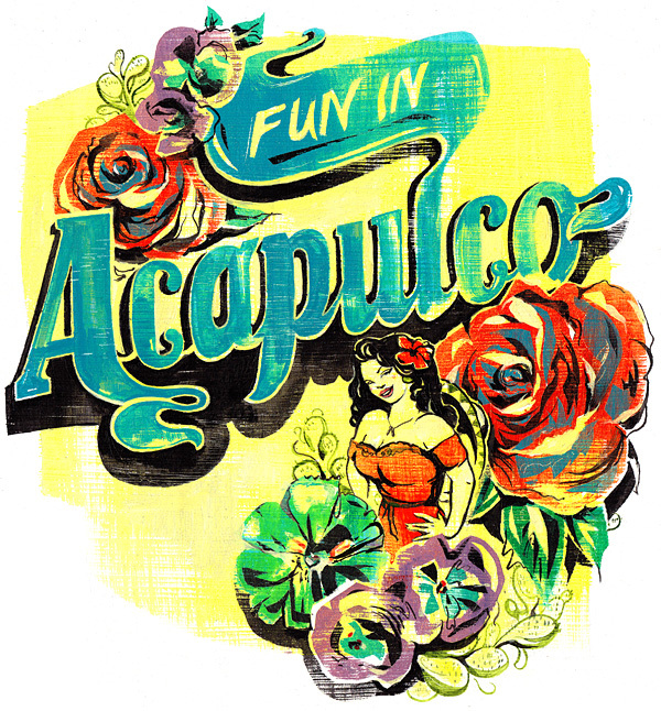 Fun in Acapulco! - Design by Jacqui Oakley via YouTheDesigner