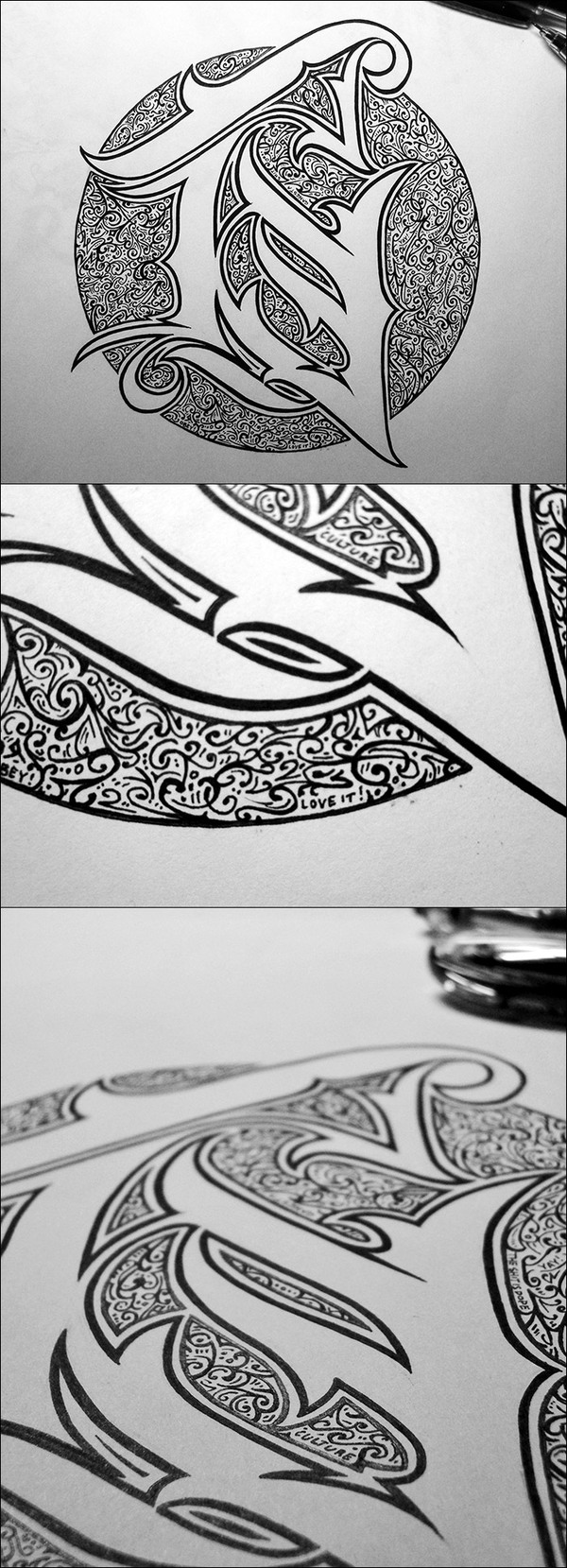 Hand Lettering by 86era via YouTheDesigner