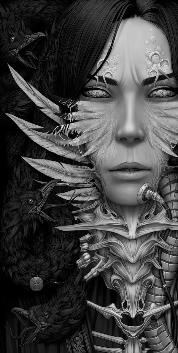 """""""Medusa"""" - Digital Art by Alexander Fedosov via YouTheDesigner"""